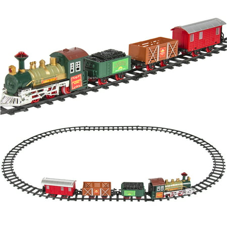 Best Choice Products Kids Classic Electric Railway Train Car Track Play Set Toy w/ Music, Lights Model Railroad Track Plans