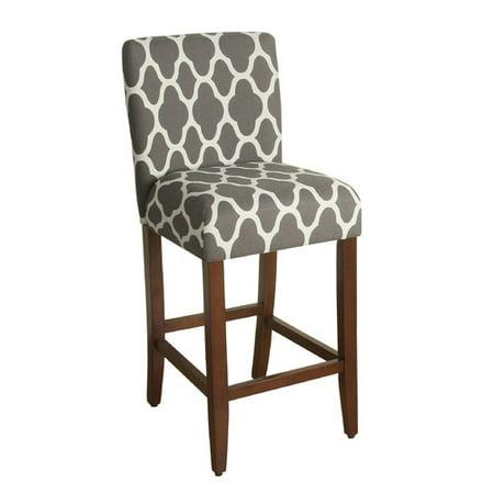 HomePop Geo Brights Warm Gray Upholstered Barstool 29