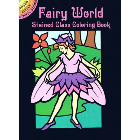 Fairy World Stained Glass Coloring Book for $<!---->