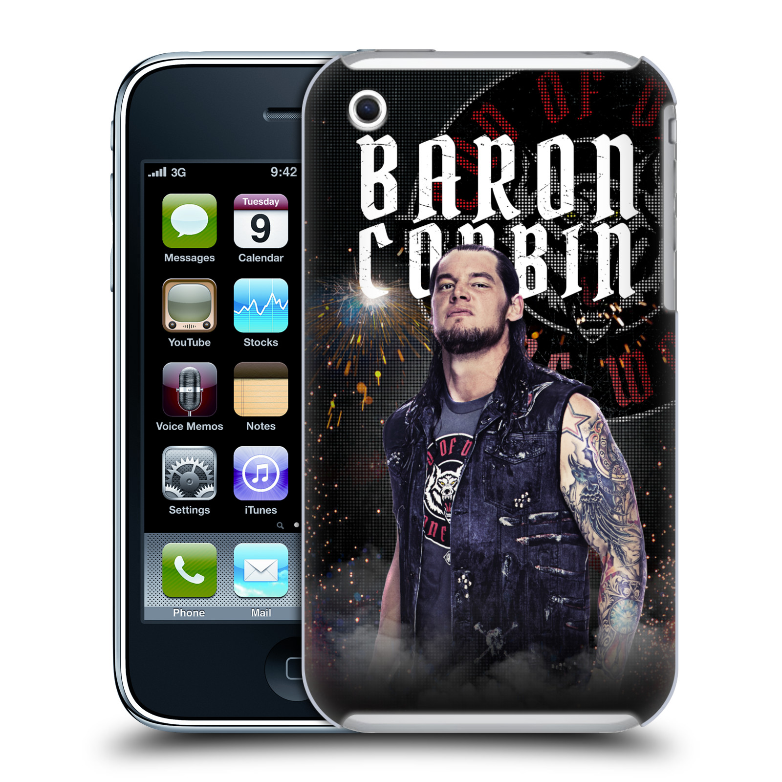 OFFICIAL WWE BARON CORBIN HARD BACK CASE FOR APPLE IPHONE PHONES