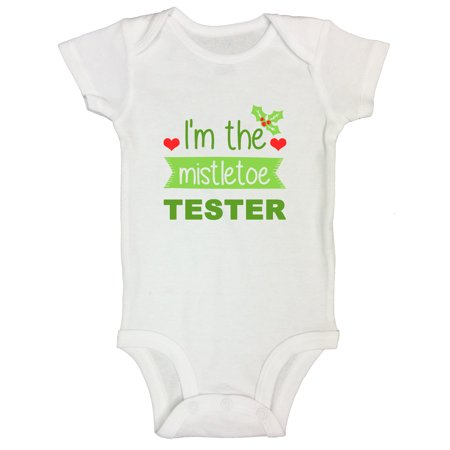 "Dalmatian Onesie Kids (Kids Christmas Santa Onesie Toddler Shirt ""I'm The Mistletoe Tester"" Funny Threadz Kids 12 Months,)"