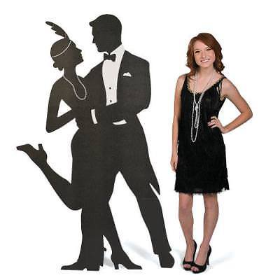 IN-13629136 Roaring '20s Silhouette Swing Dancers 1 Piece(s)