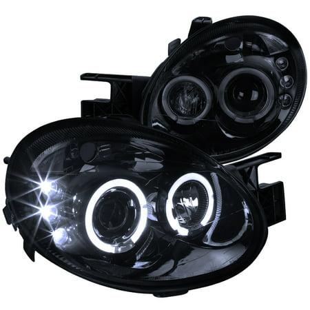 Spec-D Tuning 2003-2005 Dodge Neon Led Dual Halo Projector Headlights 2003 2004 2005 (Left + Right) Dodge Neon Crystal Headlights