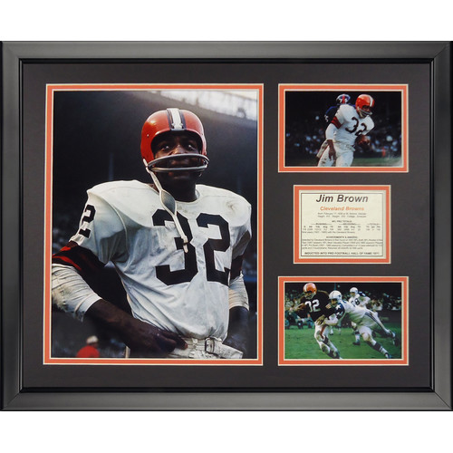 Legends Never Die NFL Cleveland Browns - Jim Framed Memorabili