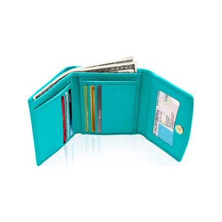 Purse Wallet (Small Trifold Wallets For Women - Credit Card Holder With Coin Purse RFID)