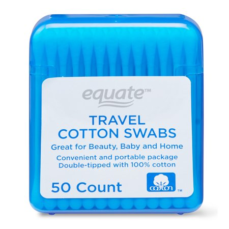 Equate Cotton Swab Travel Pack, 50 Count