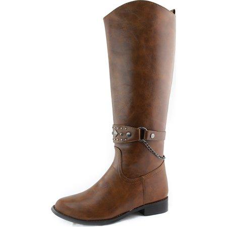 Breckelle'S Rider-81 Tan Knee High Fashion Boots, Tan, 5.5 B(M) US Breckelles Rider 82 Fashion