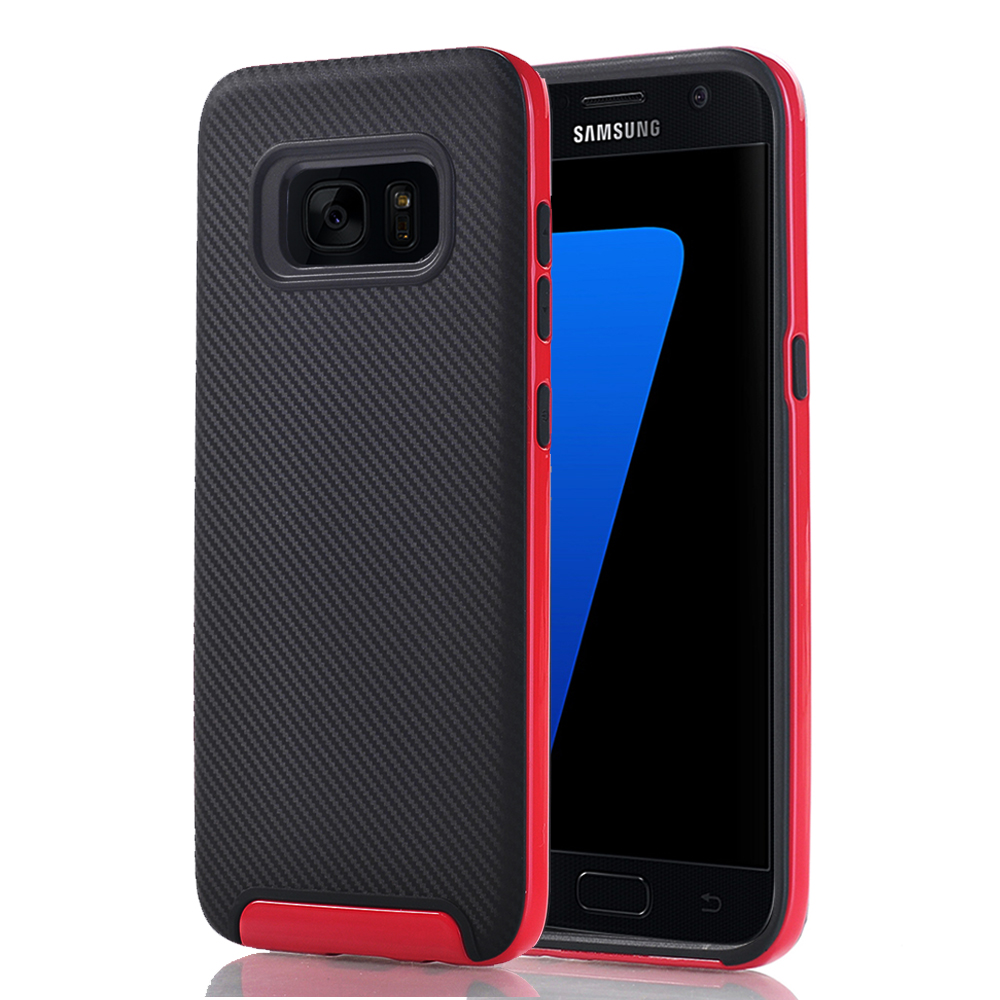 Samsung Galaxy S7 Full Body Hybrid TPU Dual Verus Hybrid Case Cover Black