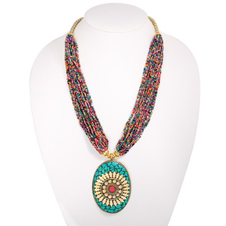- TAZZA WOMEN'S MULTICOLORED SEED BEADS 3