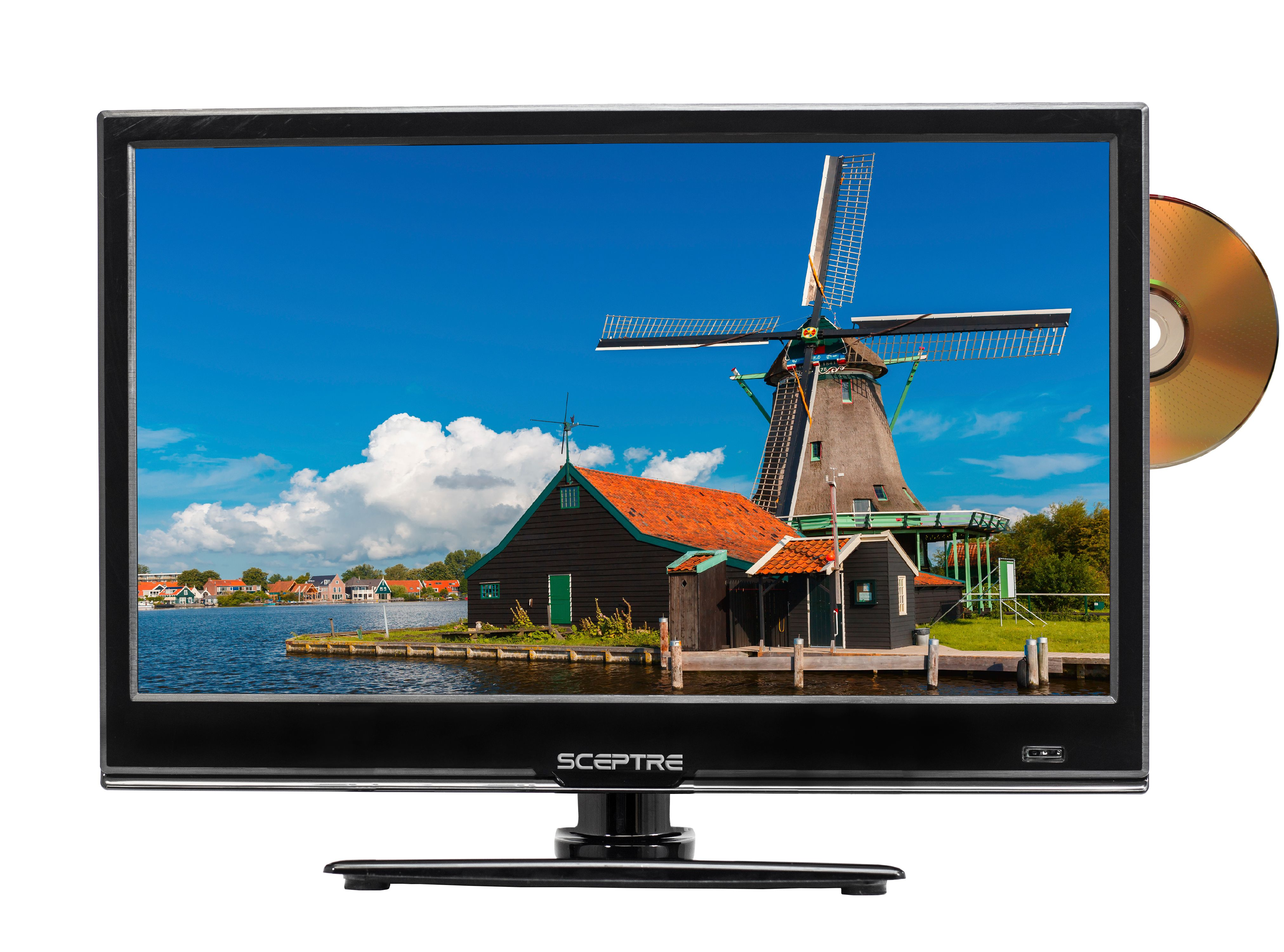 """Sceptre 16"""" Class HD (720P) LED TV (E165BD-S) with Built-in DVD by Sceptre"""