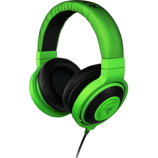 Razer Kraken - Analog Music & Gaming Headphones - Stereo - Neon Yellow - Mini-phone - Wired - 32 Ohm - 20 Hz - 20 kHz - Over-the-head - Binaural - Circumaural - 4.27 ft Cable