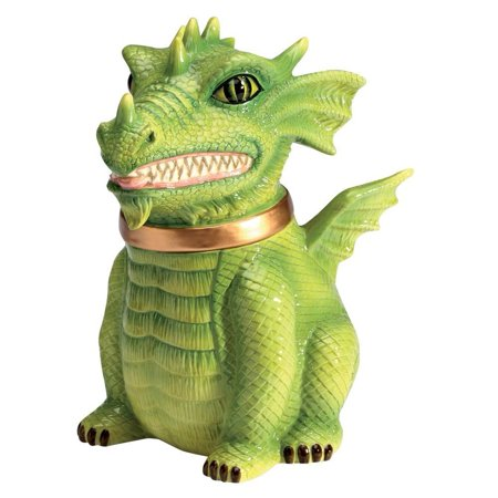 Dragon Cookie Jar Ceramic Cute Kitchen Accessory, Perfect gift for those that love treat jar By PTC