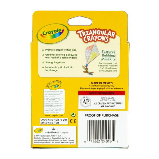 Crayola 16 Count Anti-Roll Triangular Crayons - Walmart.com