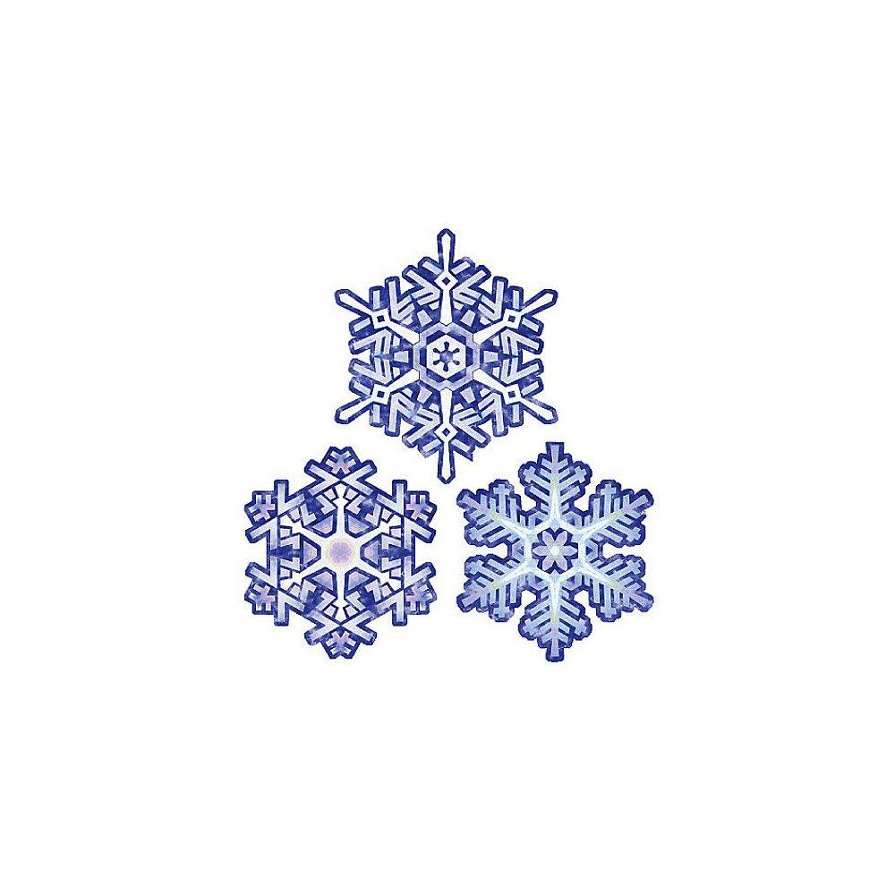 wallies 13649 crystal snowflakes peel and stick holiday decal