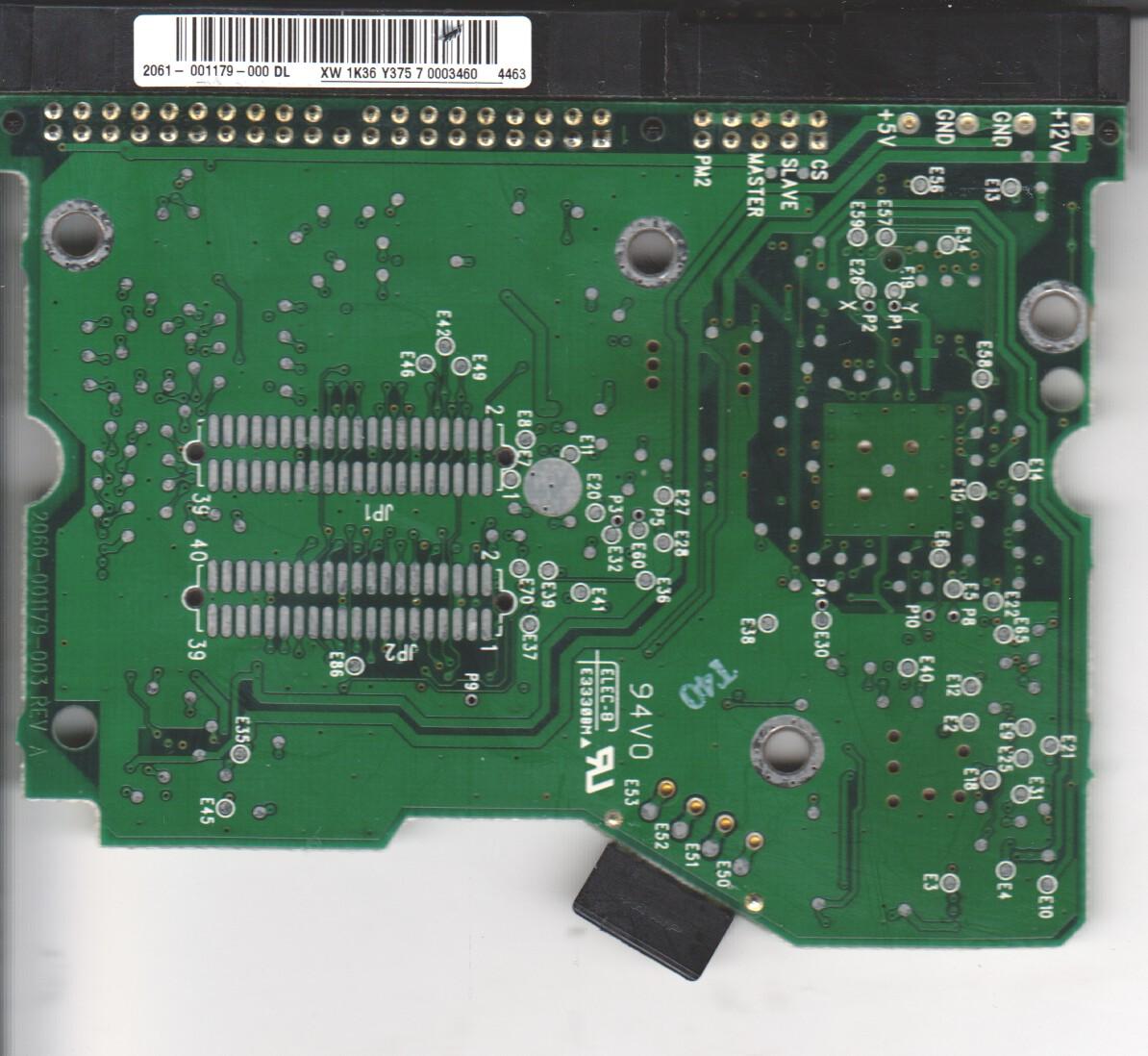 WD2500JB-00FUA0, 2061-001179-000 DL, WD IDE 3.5 PCB