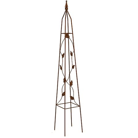 Image of Gardman Usa 5ft. Leaf Motif Obelisk R514 - Pack of 6