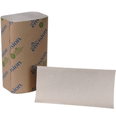 Pacific Blue Basic™ Recycled S-Fold Paper Towel (Previously branded Envision®) by Georgia-Pacific GP PRO, Brown, 23504, 250 Towels Per Pack, 16 Packs Per Case
