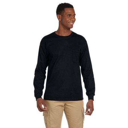Pocket Sleeves (Gildan Ultra Cotton® 6 oz. Long-Sleeve Pocket Men T-Shirt Black)