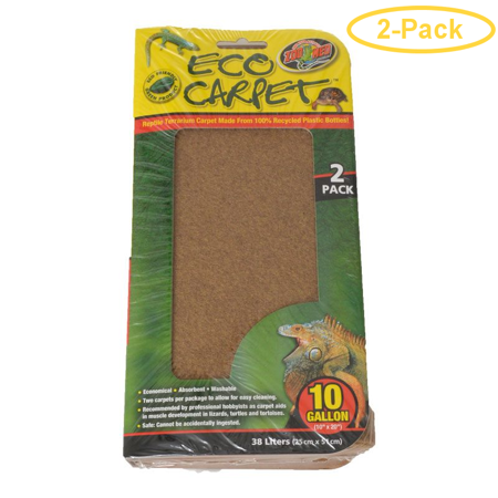 Zoo Med Reptile Cage Carpet 10 Gallon Tanks 20 Long X 10