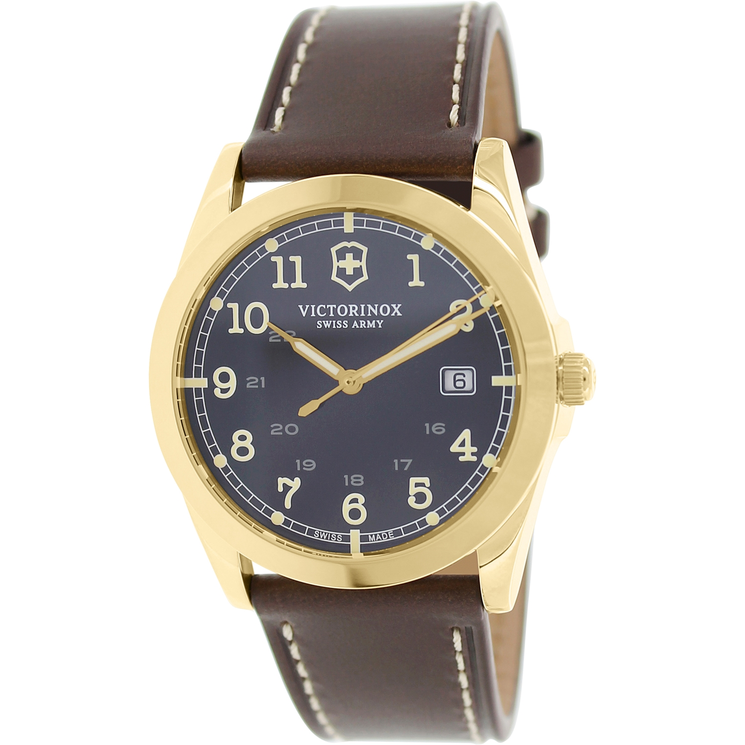 Victorinox Swiss Army Men's Infantry 241645 Brown Leather Swiss Quartz Dress Watch