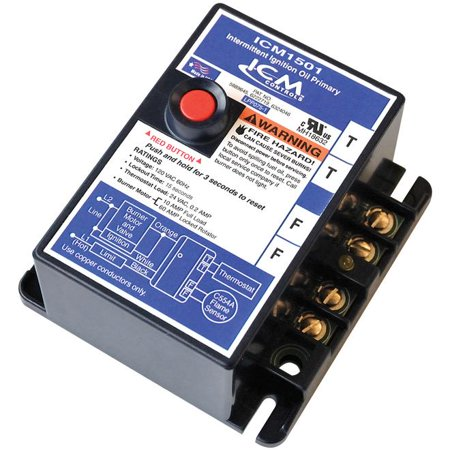 ICM Controls ICM1501 Intermittent ignition oil primary control with 15-second safety timing