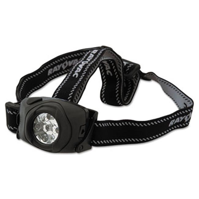 Ray-O-Vac DIYHL3AAAB Virtually Indestructible Flashlight, Black Headlamp - 3 AAA