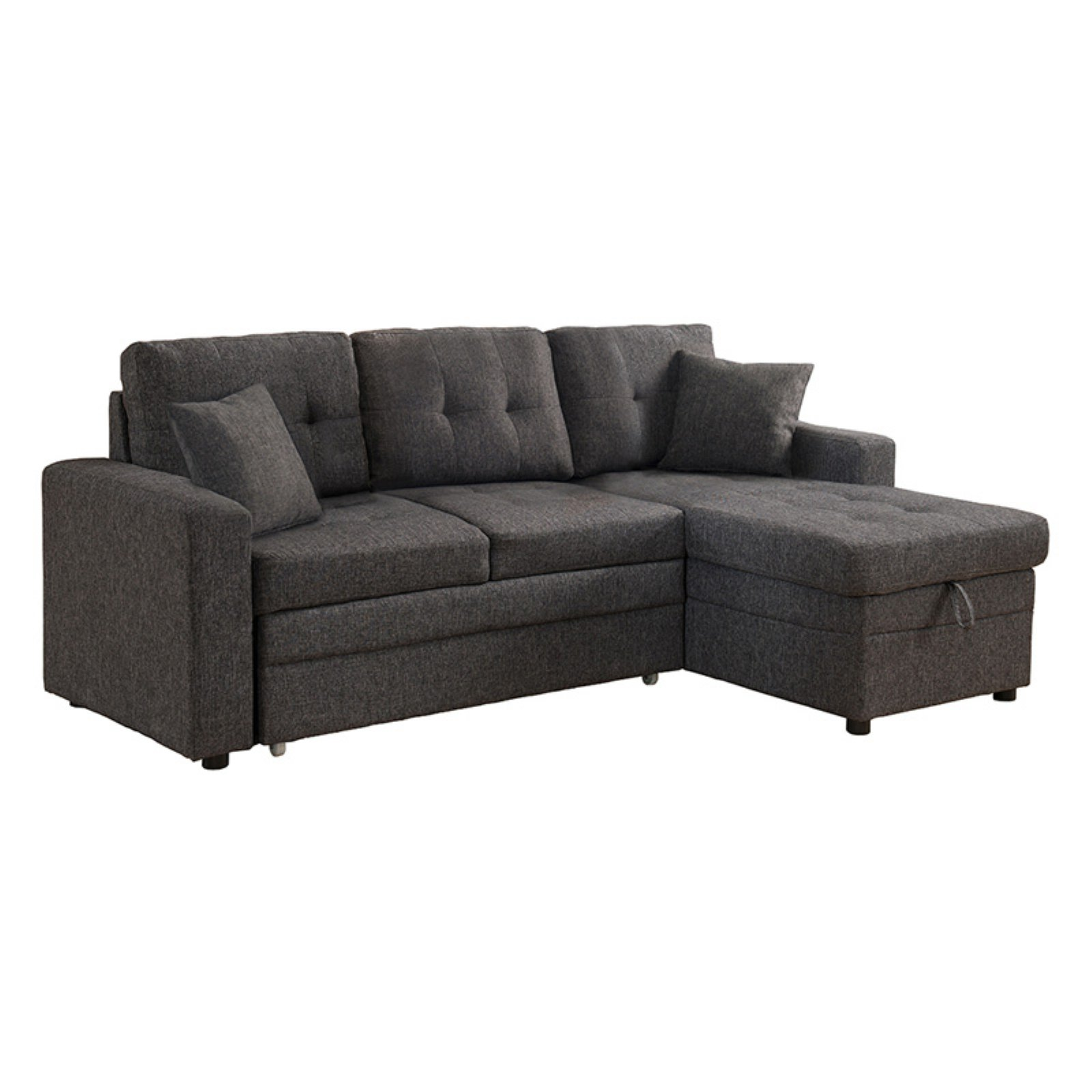 Picture of: Milton Greens Stars Darwin Sectional Sofa With Storage And Pull Out Bed Walmart Com Walmart Com