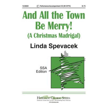 And All the Town Be Merry!-Ed Octavo - SSA,Piano - Recorder,Continuo,Tamb,P/A CD - Linda Spevacek - Sheet Music - 152026H](Halloween Town Sheet Music)