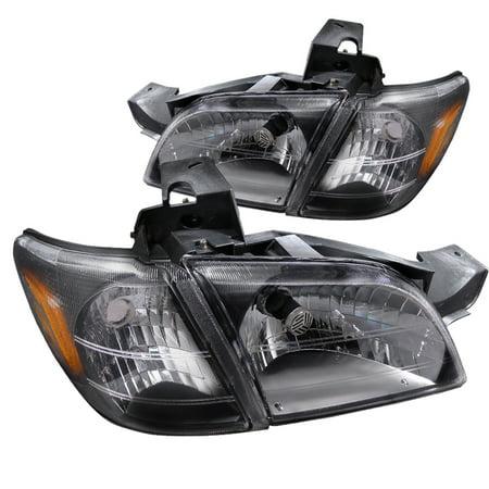 Spec-D Tuning For 1997-2005 Chevy Venture Black Head Lights + Signal Corner 1997 1998 1999 2000 2001 2002 2003 2004 2005 - Black Bumper Signal Lights