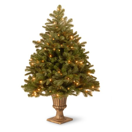 feel real noble deluxe fir small pre lit led christmas tree - Small Pre Lit Christmas Trees