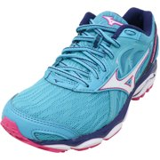 Mizuno Women's Wave Inspire 14 Peacock Blue / White Fuchsia Purple Ankle-High Running - 11.5M
