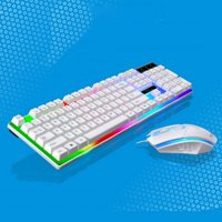 Wired USB Mechanical Feel Computer LED Keyboard Sets with 1000 DPI For PS4 PS3 Xbox One And 360,Gaming Mouse and Keyboard Mousepad Set