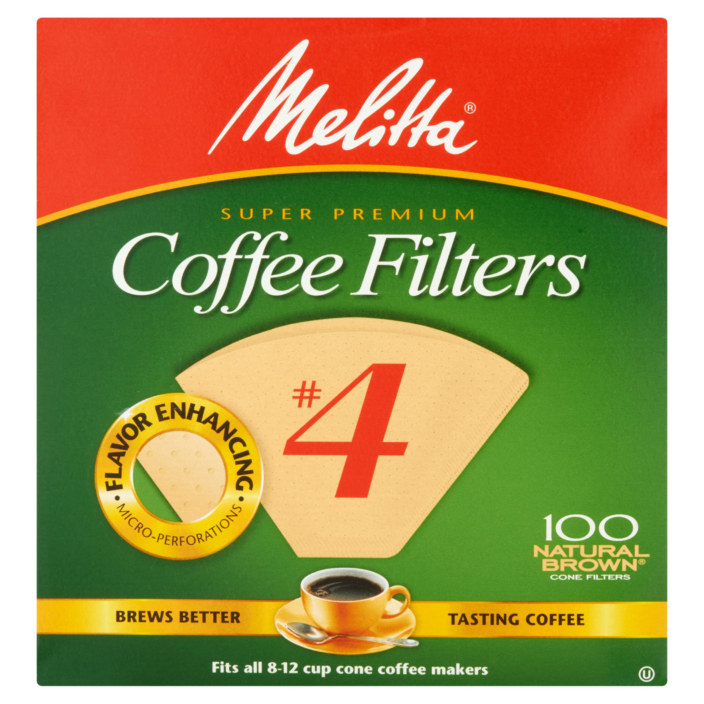 Melitta #4 Natural Brown Cone Coffee Filters, 100 Ct by Melitta USA, Inc.