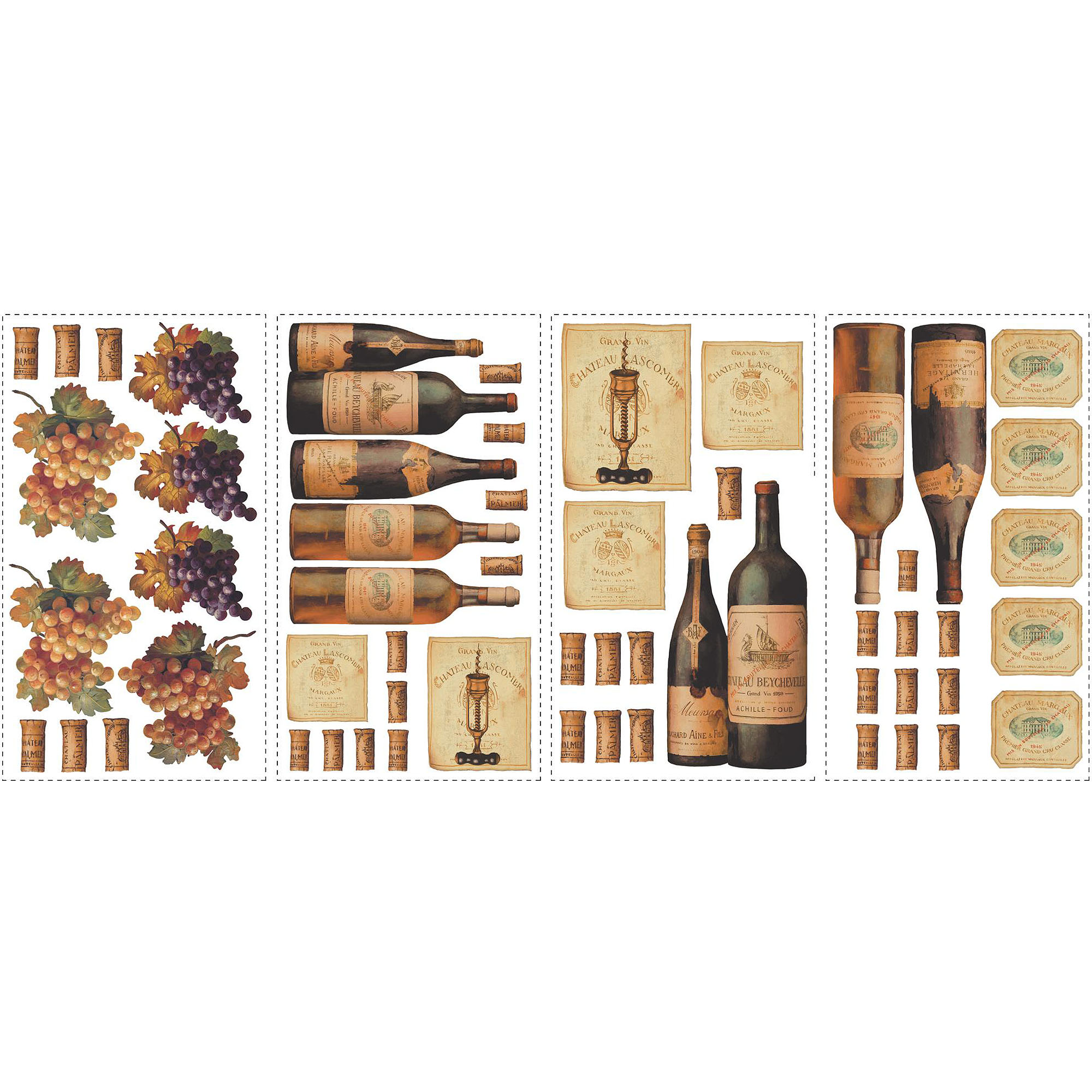 RoomMates Wine Tasting Peel and Stick Wall Decals