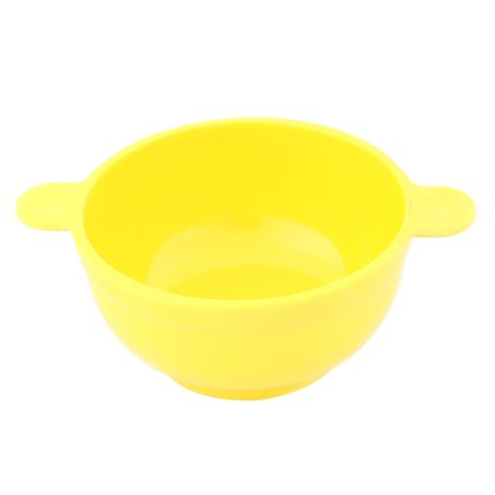 Family Kitchen Utensil  Ear Designed Handle Sauce Rice Soup Bowl (Yellow Kitchen Bowl)