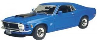 Blue 1970 Ford Mustang Boss 720 1:18 Scale Die Cast Car by Motor Max