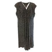 Jones New York NEW Black Polkadotted Beige Women Size 20W Plus Sheath Dress $129