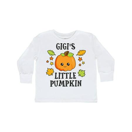Pumpkin Stars (Gigis Little Pumpkin with Leaves and Stars Toddler Long Sleeve T-Shirt )