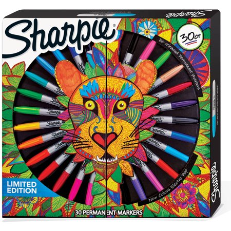 Sharpie Permanent Markers, Limited Edition, Fine and Ultra-Fine Tips, Assorted Colors, 30 Count