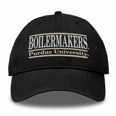 Purdue Boilermakers Adult NCAA Team Color Bar Logo Adjustable Hat  - Black