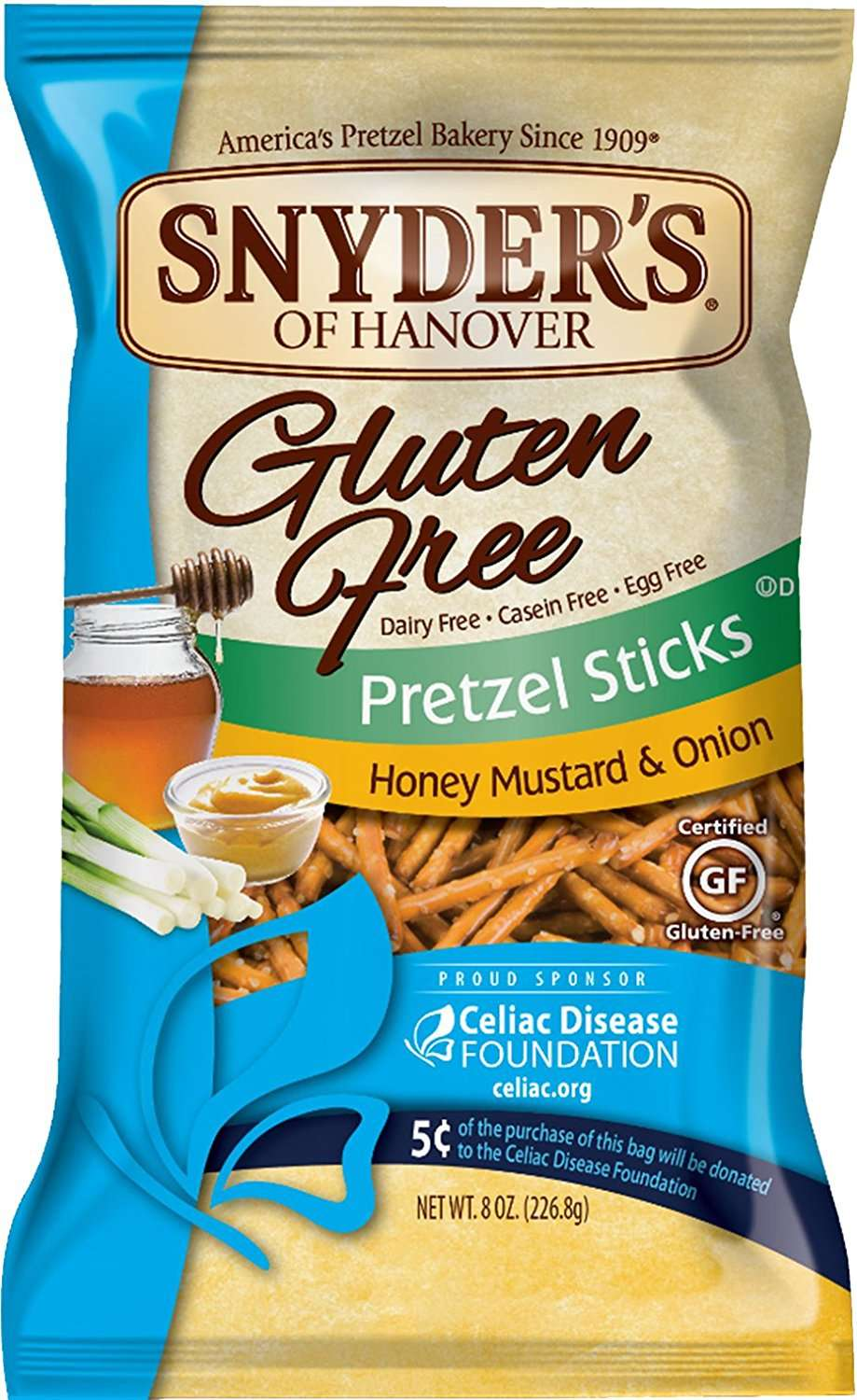 Snyder's Of Hanover Gluten Free Pretzels, Honey Mustard & Onion Sticks, 8 Oz by Snyder's-Lance