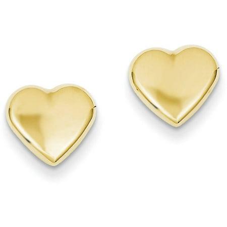 14kt Yellow Gold Heart Post Earrings ()