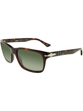 8b419e4474ae2 Product Image Persol PO3048S-24 31-58 Brown Rectangle Sunglasses
