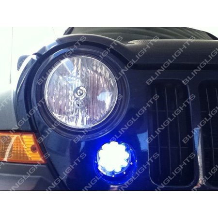 - New 2005 2006 2007 Jeep Liberty KJ LED Grille Corner Driving Lights Parking Lamps Blue Fog Kit