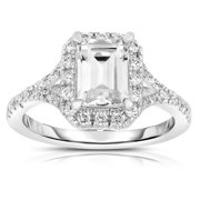 Collette Z Sterling Silver Square-cut Cubic Zirconia Ring SIZE 8
