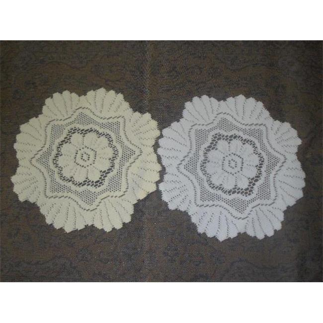 Tapestry Trading 558W8 8 inch European Lace Doily, White