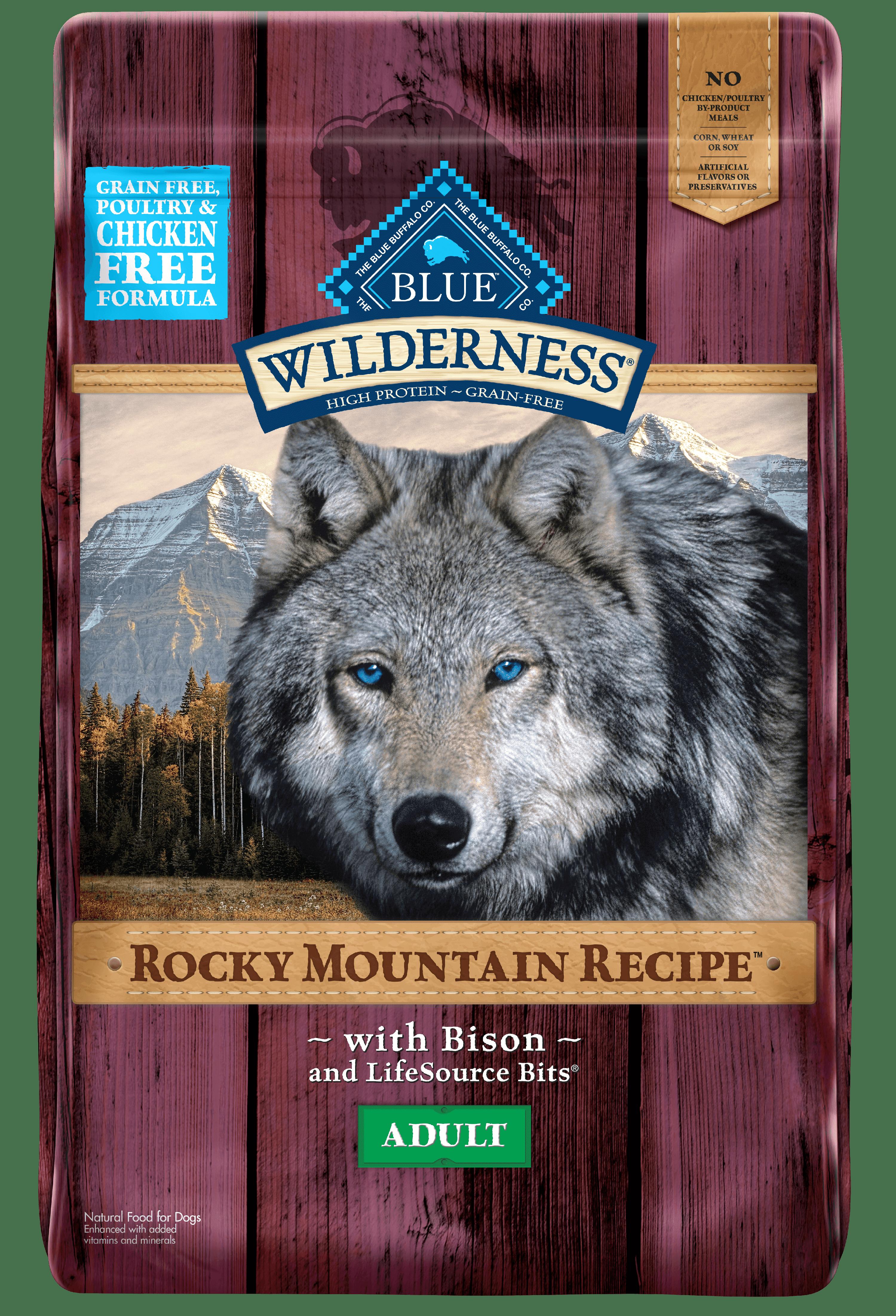 Blue Buffalo Wilderness Rocky Mountain Recipe Bison Adult Dry Dog Food 22 Lb Walmart Com Walmart Com