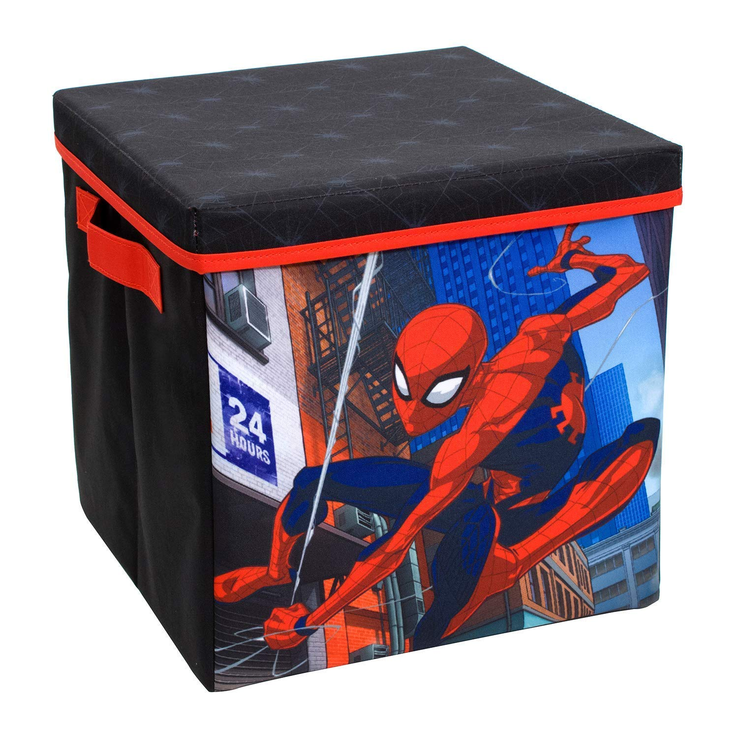 Spiderman Collapsible Storage Bin with Lid by Marvel
