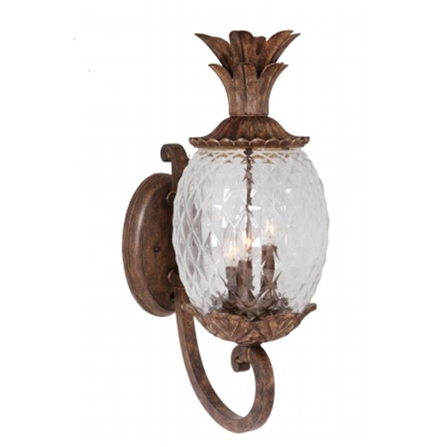 Mariana Home 610123 Pineapple 3 Light Outdoor Sconce