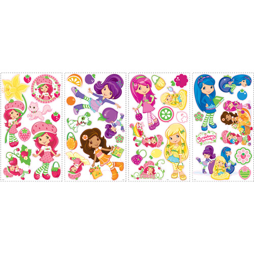 RoomMates Strawberry Shortcake Peel and Stick Wall Decals  sc 1 st  Walmart.com & RoomMates Strawberry Shortcake Peel and Stick Wall Decals - Walmart.com